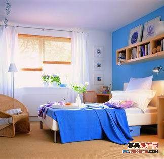 蓝色调卧室 勾起你心底最柔软的浪漫