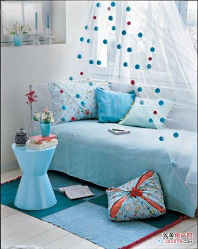 复制梦幻海底世界 蓝色主题房间快乐清凉