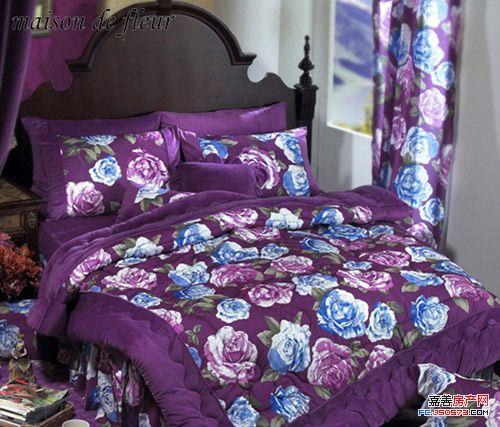 唯美花草布艺床品 打造法式浪漫居室
