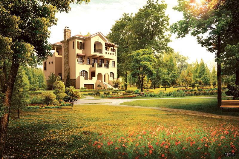大眾·湖濱花園景觀-純正西班牙風情別墅區